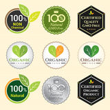 GMO Free Non GMO and organic guarantee tag logo label emblem sti Stock Images