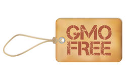 Gmo Free Old Paper Grunge Label Vector Illustration Royalty Free Stock Photo