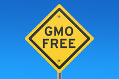 Gmo Free road sign Stock Photography