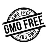 Gmo Free rubber stamp. Grunge design with dust scratches. Effects can be easily removed for a clean, crisp look. Color is easily changed Stock Photos