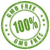 Gmo free rubber stamp. Gmo free rubber vector stamp isolated on white background Stock Photos