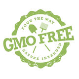 GMO free stamp on white Stock Photo