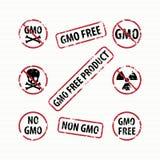 GMO Free stamps set Royalty Free Stock Photos