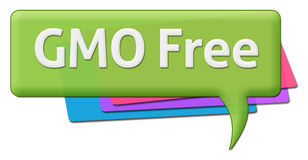 GMO Free Text With Colorful Comment Symbols Stock Photography