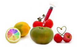 Gmo fruits Stock Images