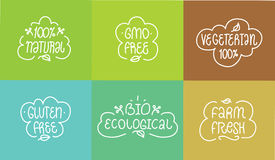 Gmo and gluten free, bio ecological, natural Stock Image