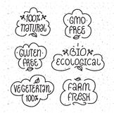 Gmo and gluten free, bio ecological, natural Stock Photography