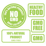 GMO gratuit et coupons alimentaires sains Photo libre de droits