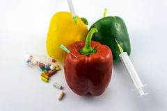 GMO Peppers Royalty Free Stock Images