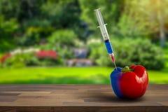 GMO, pesticide et concept de biochimie photo libre de droits