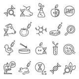 Gmo pictogramreeks stock illustratie