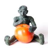 GMO pojęcia niebezpieczeństwa postać mężczyzna Fotografia Stock