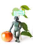 GMO pojęcia niebezpieczeństwa postać mężczyzna Obrazy Royalty Free