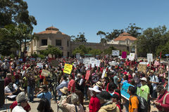 GMO protest in San Diego, California. Royalty Free Stock Photo