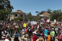 GMO protest in San Diego, California. Royalty Free Stock Photo