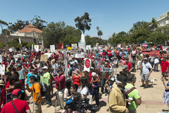 GMO protest in San Diego, California. Stock Photos