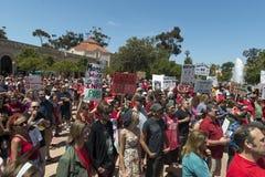 GMO protest in San Diego, California. Stock Image
