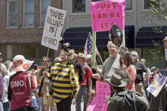 GMO Protesters at Rally in Asheville Royalty Free Stock Photography