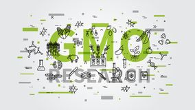 GMO research vector illustration with colorful elements Stock Image
