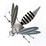 GMO robot mosquito. GMO ( Genetically Modified Organisms ) concept, represented with a robot mosquito stock illustration