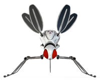 GMO robotic mosquito. GMO ( Genetically Modified Organisms ) concept, represented with a robotic mosquito vector illustration