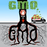GMO (stop it). Stock Images