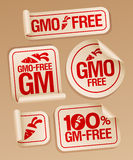 GMO vrije stickers. Stock Foto