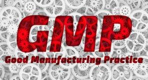 GMP Bonne pratique en matière de fabrication illustration stock