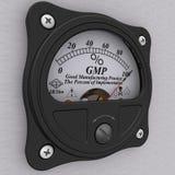 GMP Good manufacturing practiceindicator De percenten van implementatie stock illustratie
