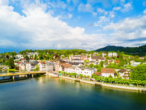 Gmunden aerial view, Salzkammergut Royalty Free Stock Photo