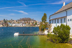 Gmunden town with castle Ort, Austria, Europe Royalty Free Stock Photo