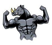 GMuscular nosorożec Royalty Ilustracja
