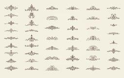 Gnäggandelinjer och gamla dekorbeståndsdelar i vektor Royaltyfri Foto