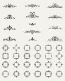 Gnäggandelinjer och gamla dekorbeståndsdelar i vektor Royaltyfri Bild