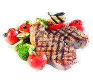 gnälla grillad steak Royaltyfria Bilder