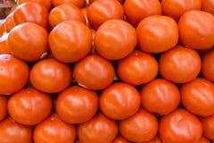 Gnälla tomater som sett på en lagerhylla Royaltyfri Fotografi