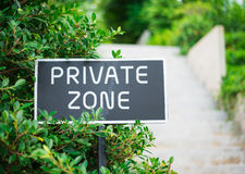gn in the park walking way private zone Stock Images