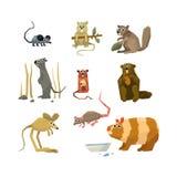 Gnagarevektorsamling stock illustrationer