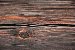 Gnarled стена деревянной балки старого конца здания Стоковая Фотография