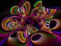Gnarled drymby - abstrakta cyfrowo wytwarzający wizerunek royalty ilustracja