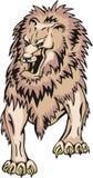 gnarling λιοντάρι φοβερό διανυσματική απεικόνιση