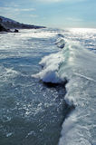 Gnarly wave on Aliso Beach in Laguna Beach, California. Royalty Free Stock Image