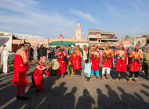 Gnawa Musicians In Marrakech Royalty Free Stock Photography