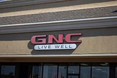 GNC商店标志 图库摄影