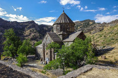 Gndevank monastery in canyon of Arpa river near Jermuk Stock Photo