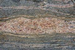 Gneiss. A hole in the gneiss Royalty Free Stock Image
