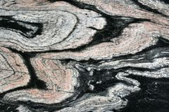 Gneiss. Pattern of a gneiss rock Stock Photography