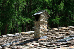 Gneiss roof. Of a hut in the Valle d'Aosta Stock Photography