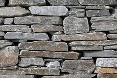 Gneiss stone wall Royalty Free Stock Photo