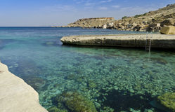 Gnejna Bay - Malta. Beautiful coast of the Maltese islands in the northern part of the island Royalty Free Stock Photo